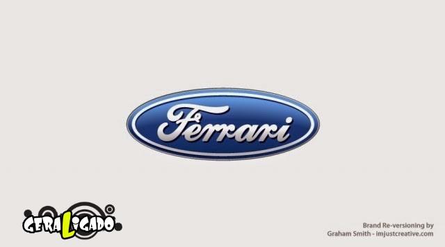 Uma louca mistura de logos de marcas concorrentes12