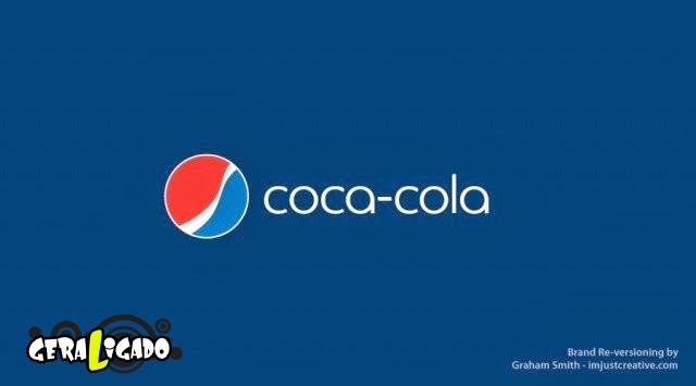Uma louca mistura de logos de marcas concorrentes8
