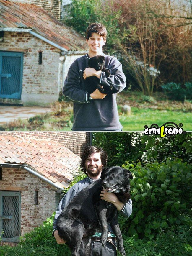 'Antes e depois' muito legais de donos e seus animais de estimação1