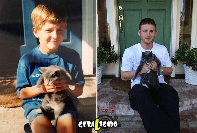 'Antes e depois' muito legais de donos e seus animais de estimação14