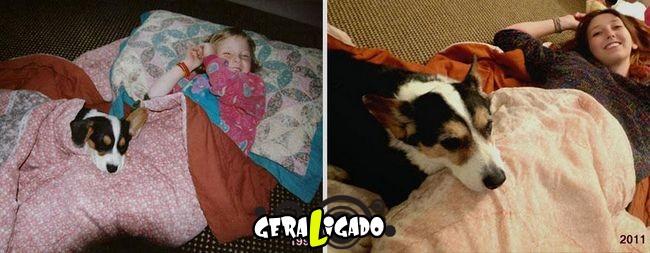 'Antes e depois' muito legais de donos e seus animais de estimação6
