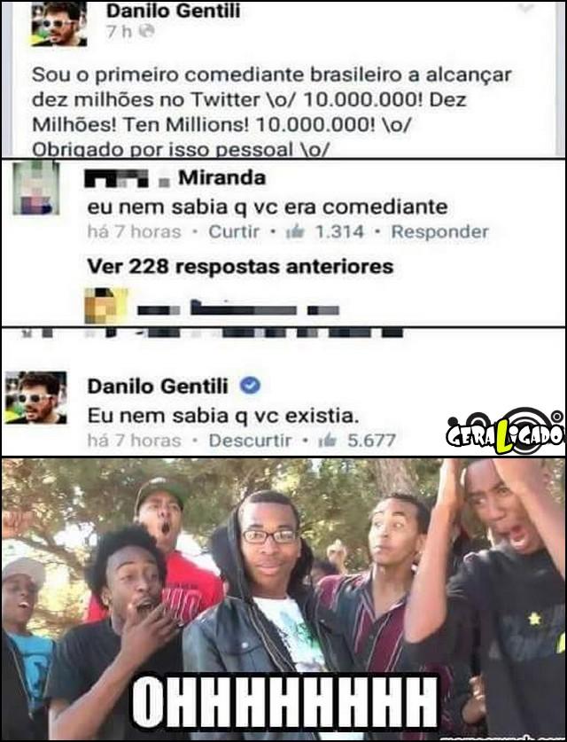 3 Danilo gentili e seus seguidores