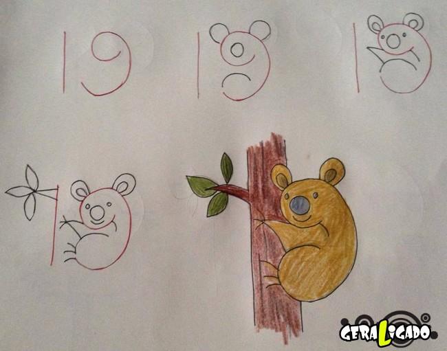 Criando desenhos com numeros 3