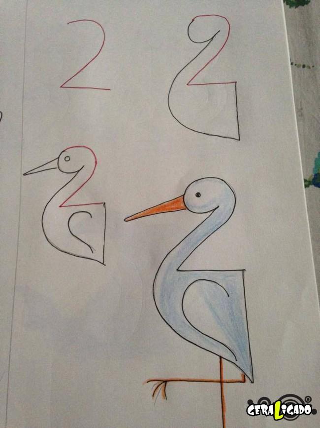 Criando desenhos com numeros 5