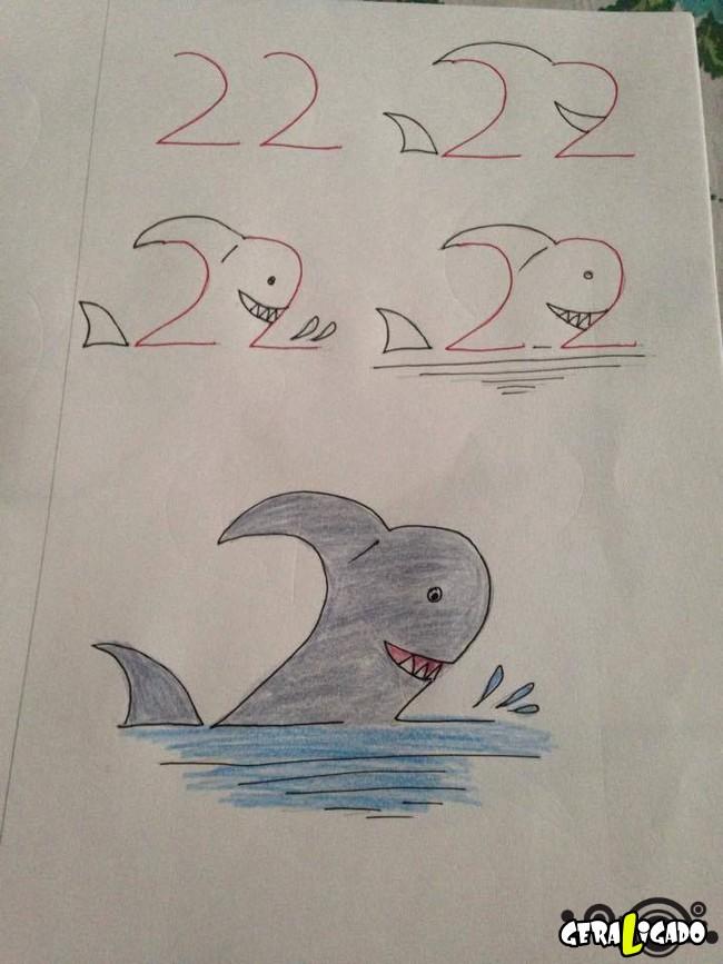 Criando desenhos com numeros 8