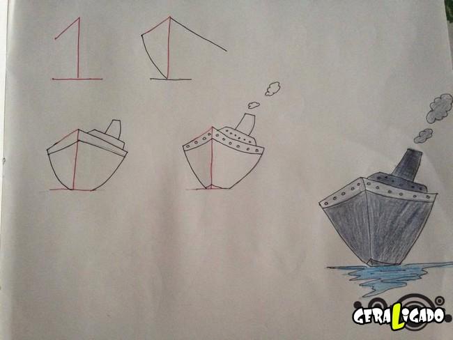 Criando desenhos com numeros 9