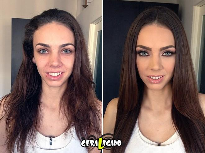 Mulheres antes e depois de serem maquiadas1