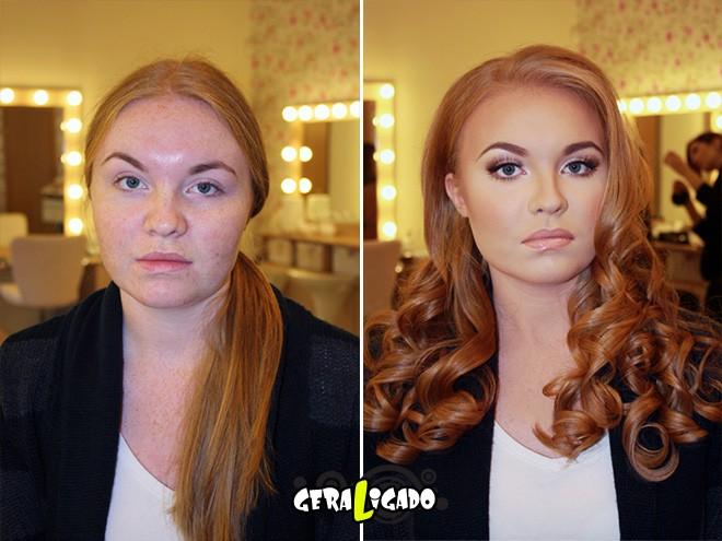 Mulheres antes e depois de serem maquiadas11