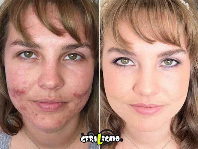 Mulheres antes e depois de serem maquiadas13