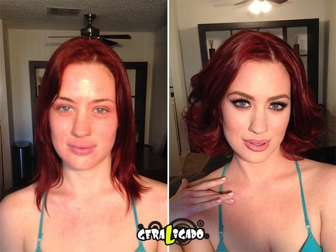 Mulheres antes e depois de serem maquiadas15