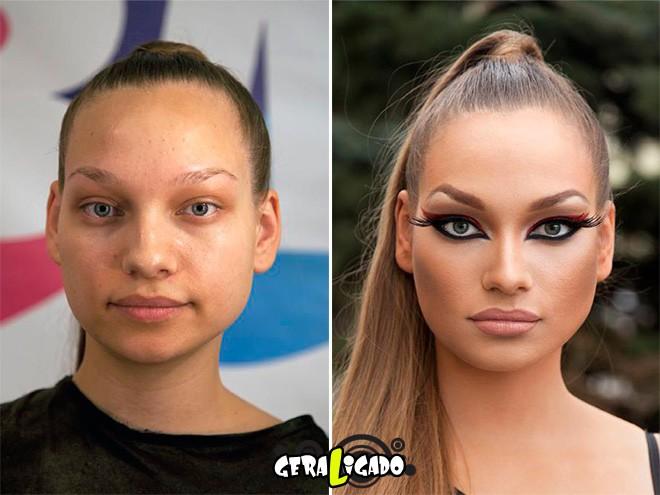 Mulheres antes e depois de serem maquiadas18