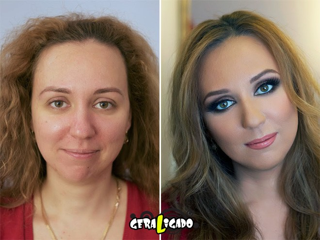 Mulheres antes e depois de serem maquiadas2