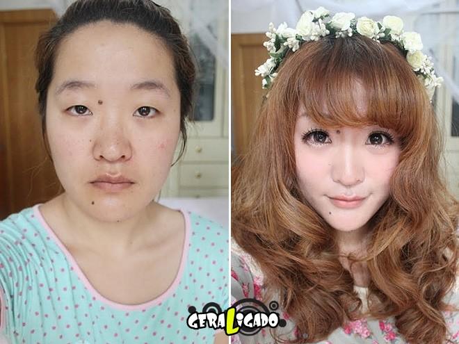 Mulheres antes e depois de serem maquiadas3