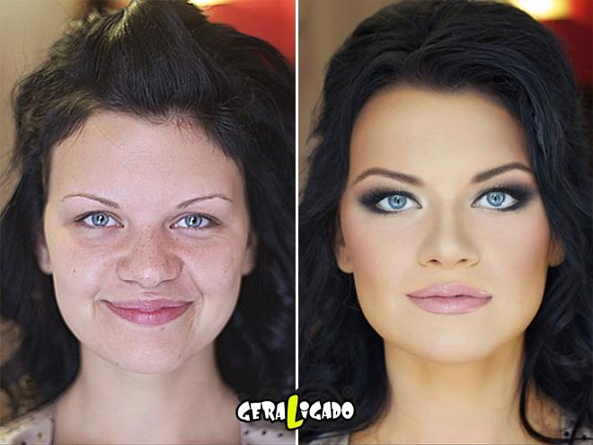 Mulheres antes e depois de serem maquiadas4