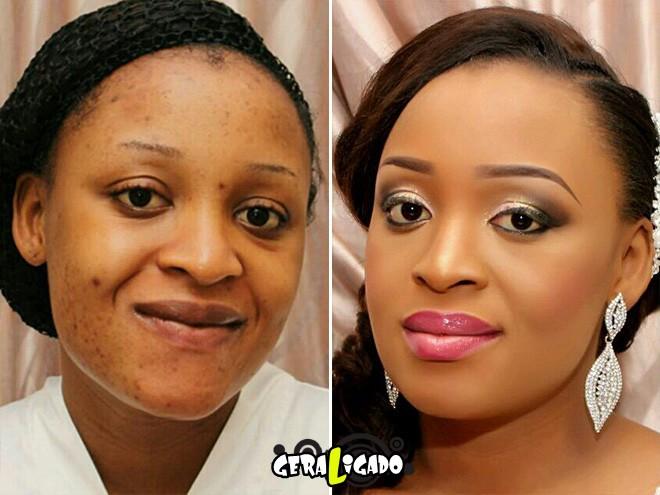 Mulheres antes e depois de serem maquiadas5