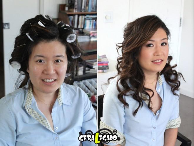 Mulheres antes e depois de serem maquiadas7