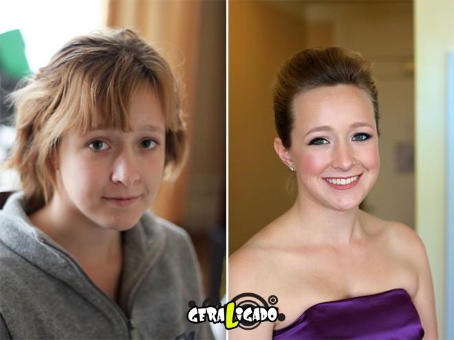Mulheres antes e depois de serem maquiadas9