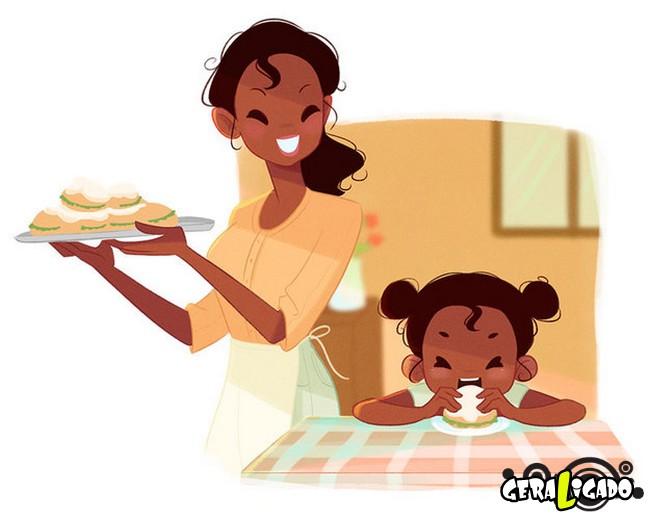 Como seriam as princesas da Disney ao se tornarem mães10