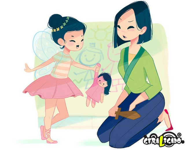 Como seriam as princesas da Disney ao se tornarem mães11