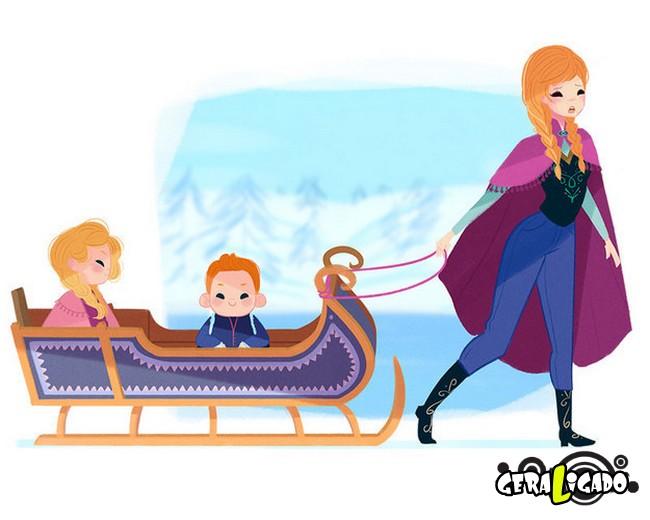 Como seriam as princesas da Disney ao se tornarem mães12