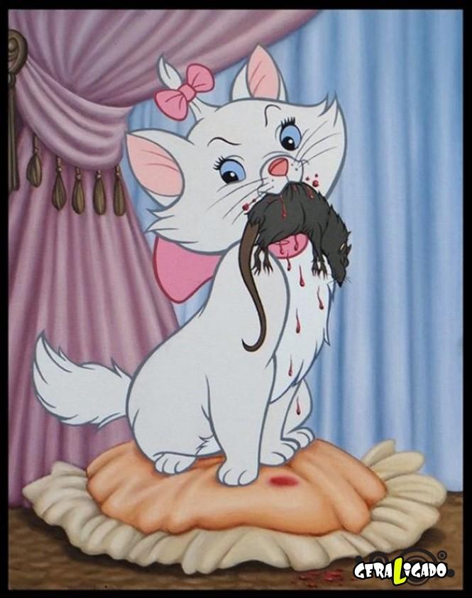 Imagens que você nunca irá ver nos desenhos da Disney8