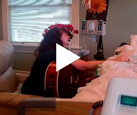 Mãe canta para filha descansar em paz