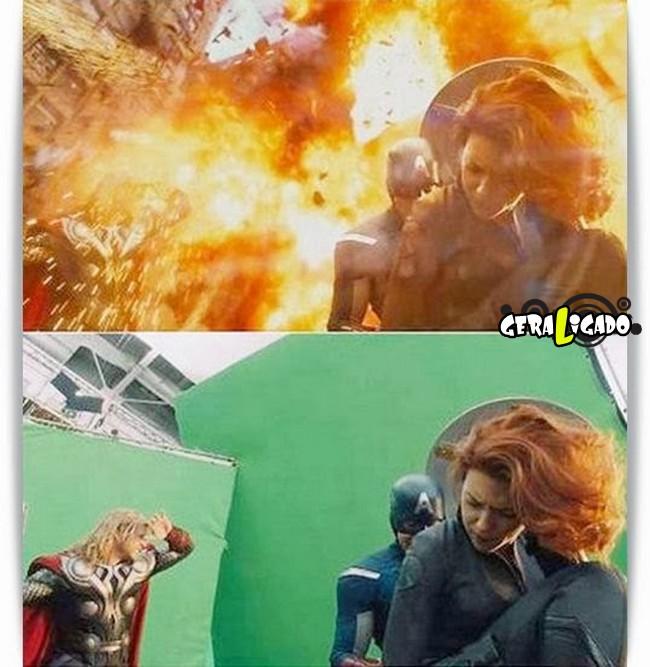 Os melhores antes e depois dos efeitos especiais nos filmes1