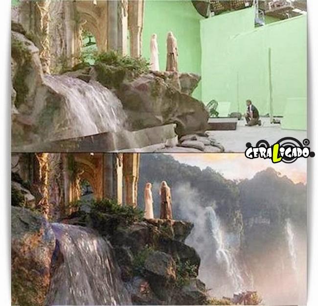 Os melhores antes e depois dos efeitos especiais nos filmes10