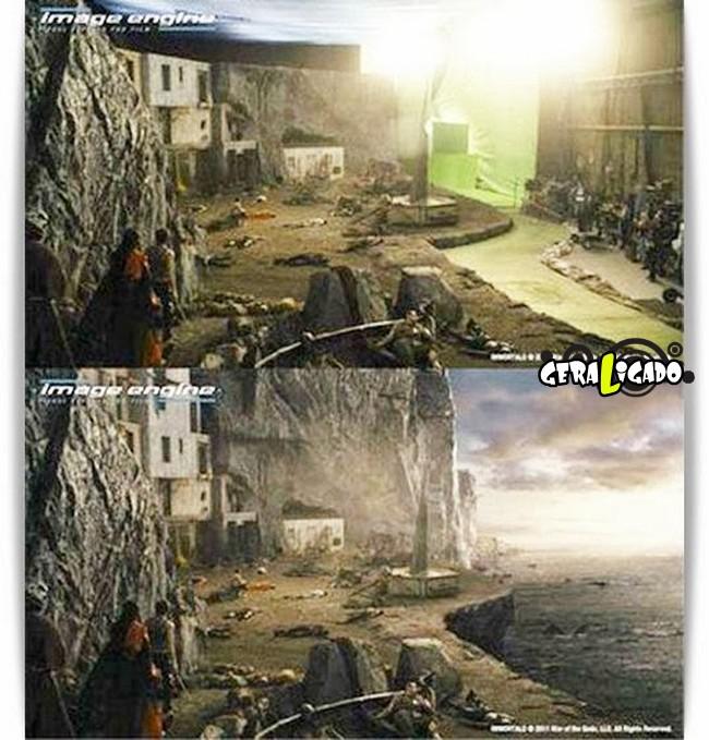 Os melhores antes e depois dos efeitos especiais nos filmes11
