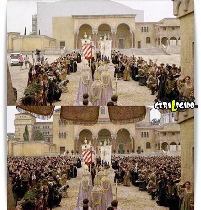 Os melhores antes e depois dos efeitos especiais nos filmes3