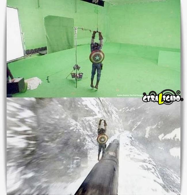 Os melhores antes e depois dos efeitos especiais nos filmes8