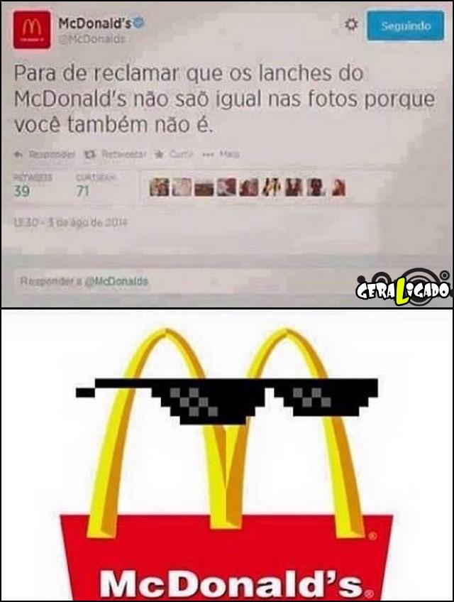 1 Lanches do McDonalds não são igual o das fotos, Eles tem a resposta!