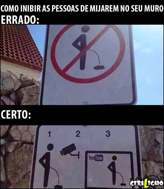 2 Como evitar as pessoas de mijarem no seu muro
