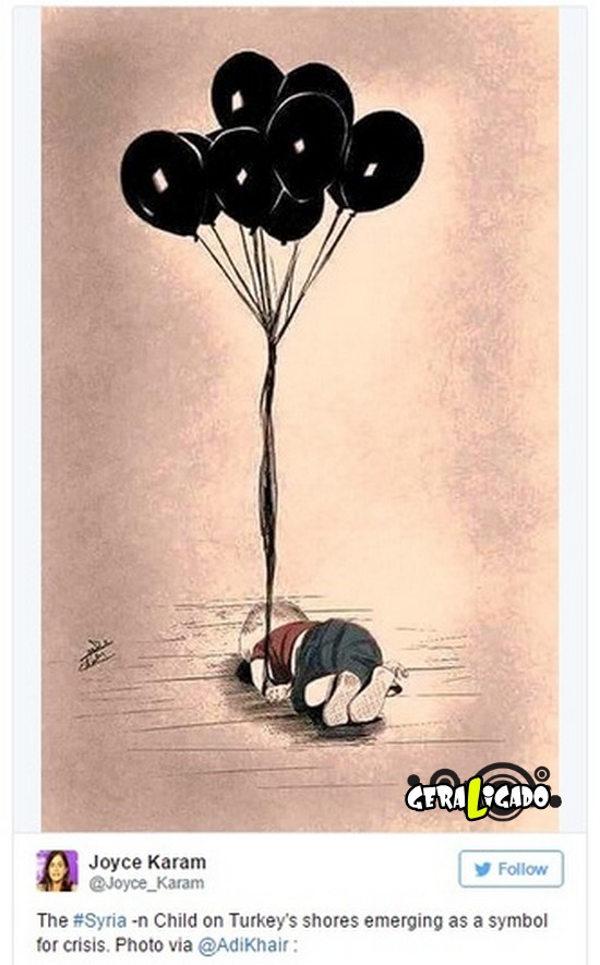 ''Descanse em paz'' desenhos e montagens homenageiam menino refugiado morto na praia1