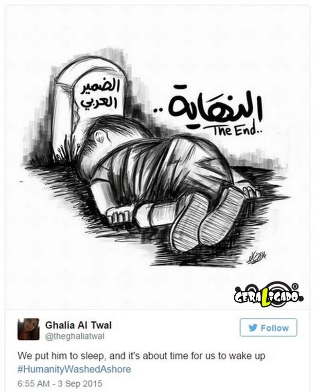 ''Descanse em paz'' desenhos e montagens homenageiam menino refugiado morto na praia12