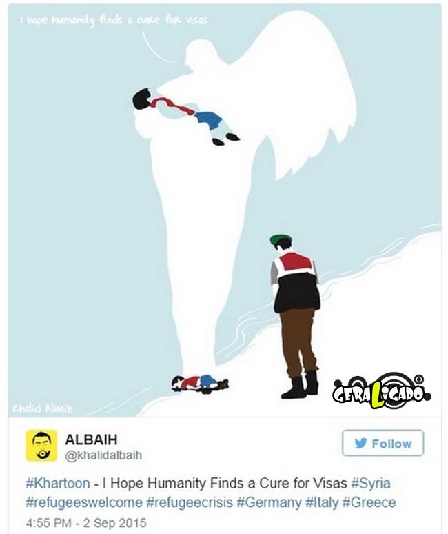 ''Descanse em paz'' desenhos e montagens homenageiam menino refugiado morto na praia4