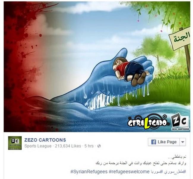 ''Descanse em paz'' desenhos e montagens homenageiam menino refugiado morto na praia7