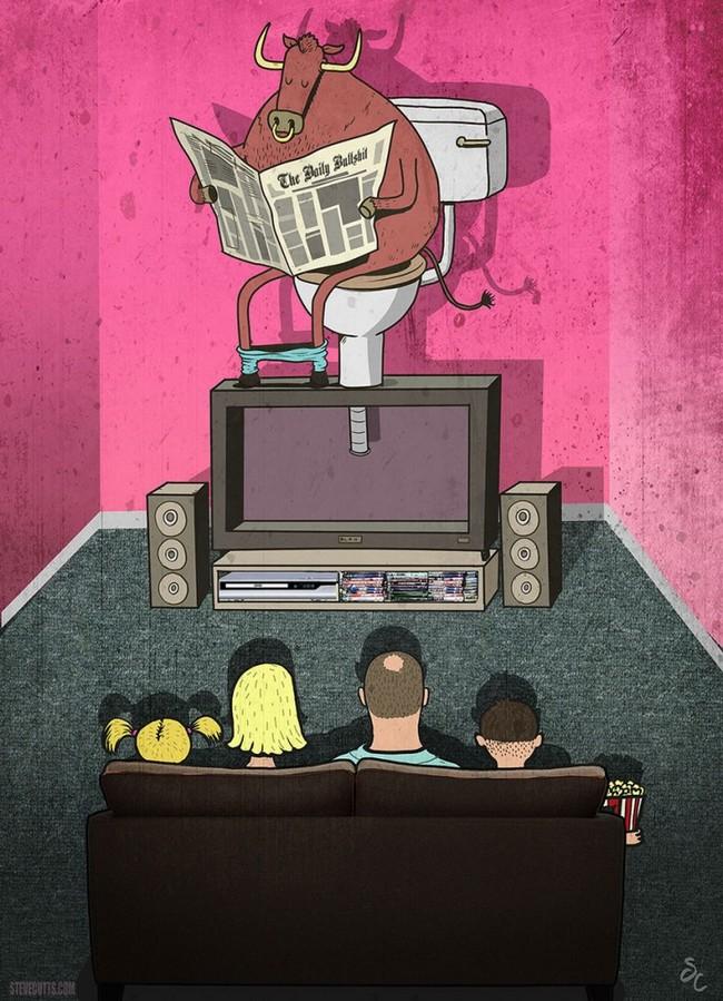 Ilustrações cruéis do mundo moderno10