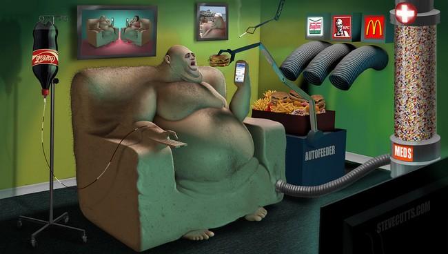 Ilustrações cruéis do mundo moderno6