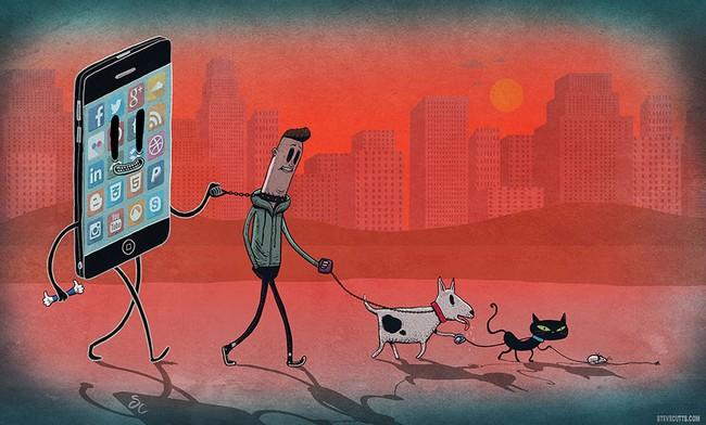 Ilustrações cruéis do mundo moderno7