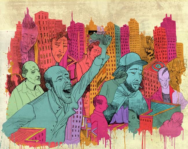 Ilustrações cruéis do mundo moderno9