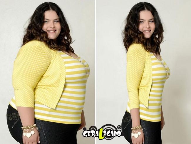 Mulheres incrivelmente emagrecidas pelo Photoshop7