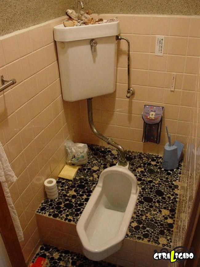 Banheiro publicos demonstra como é cada nação.10