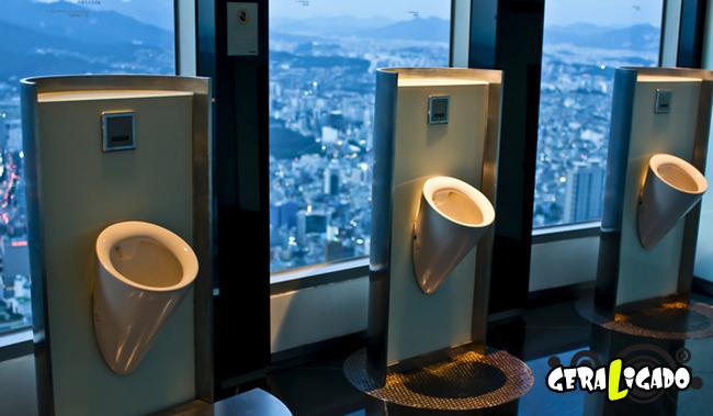 Banheiro publicos demonstra como é cada nação.18