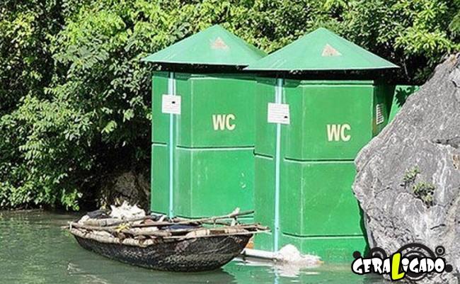 Banheiro publicos demonstra como é cada nação.7