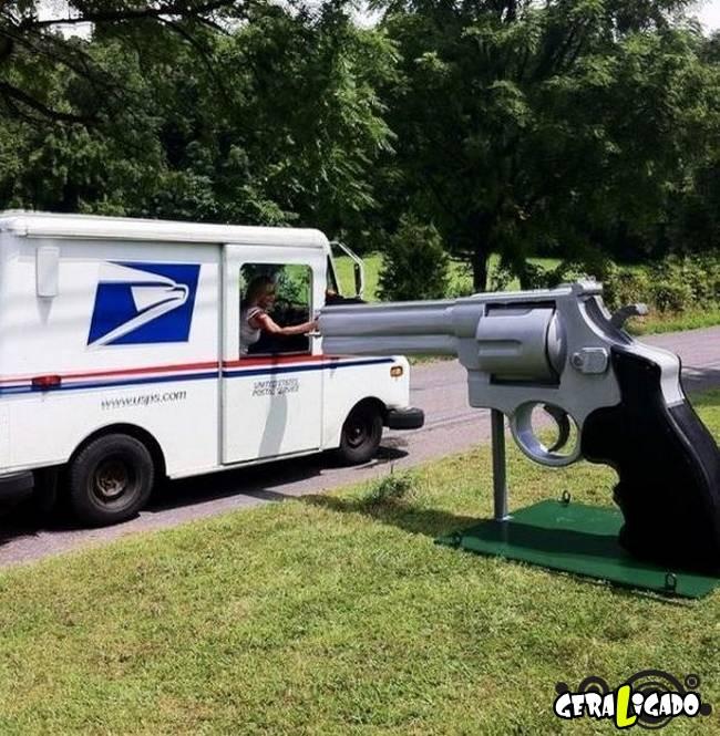 Caixas de correio que você não vai acreditar que existem.2