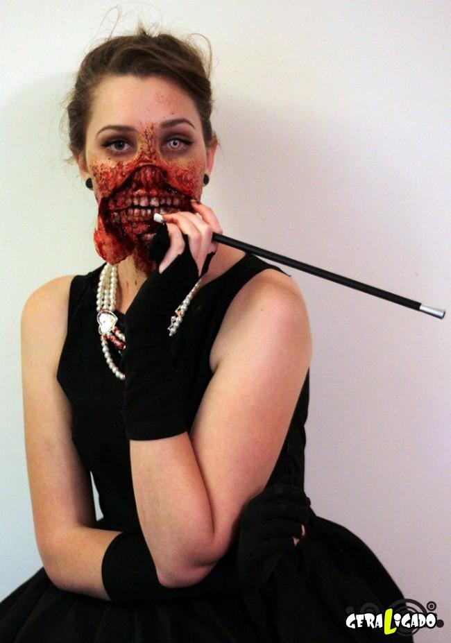 Fantasias e maquiagens incríveis pro Halloween