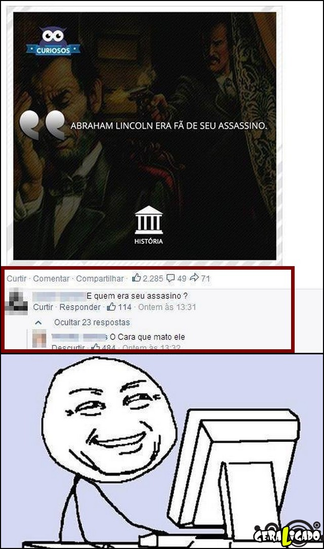 1 Abraham lincoln era fã do seu assassino