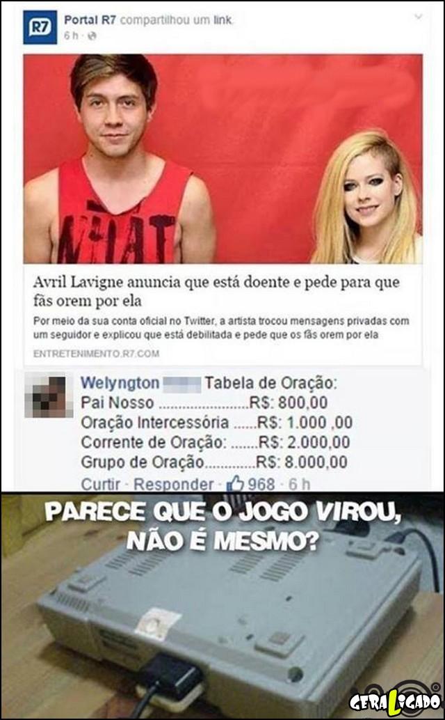 3 Parece que o jogo virou Avril Lavigne