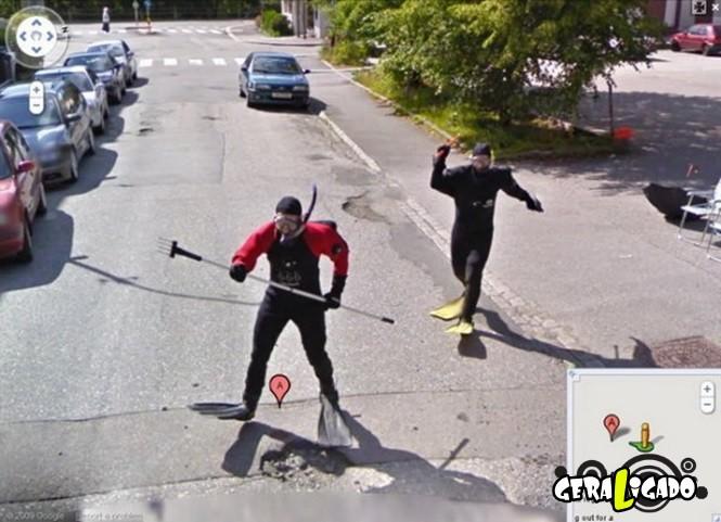 Imagens bizarras do Google Maps